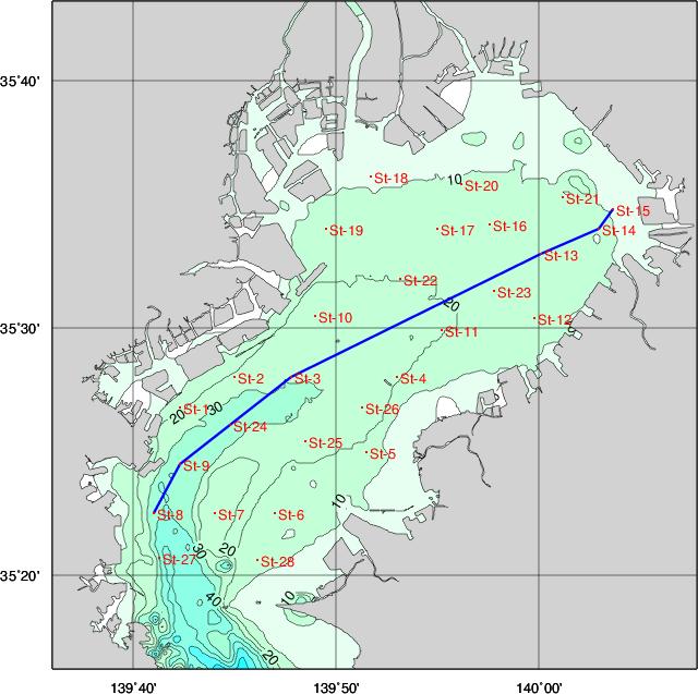 湾 水温 東京 定地水温データ/観測地点の情報一覧